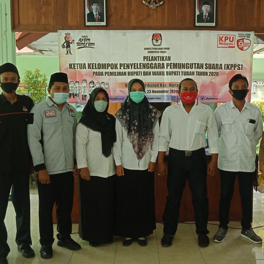 Jelang Pilkada Serentak, PPS Desa Tuwirikulon Lantik Ketua KPPS